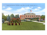 Train Station and Park, Atlantic City, New Jersey Prints
