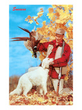 Success, Man with Dead Pheasant and Hunting Dog Poster