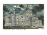Moon over State Capitol, St. Paul, Minnesota Poster