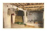Interior of House, Isleta Pueblo, New Mexico Poster