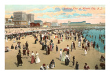 Beach Scene, Atlantic City, New Jersey Art