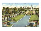 Sunset Memorial Park, St. Paul, Minnesota Kunstdrucke