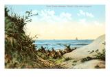 Sand Dunes, Atlantic City, New Jersey Prints