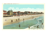 Beach Scene, Cape May, New Jersey Kunstdruck