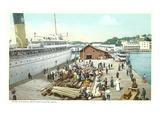 Arnold's Dock, Mackinac Island, Michigan Print