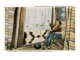 Navajo Rug Weaver Poster