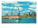 St. Louis Arch and Mississippi River Posters