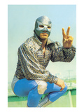 Mexican Wrestler in Lounge Singer Shirt Posters