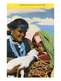 Navajo Mother, Baby and Lamb Posters