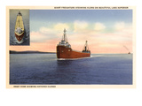 Freighters on Lake Superior, Minnesota Art