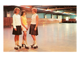 Girls at the Roller Rink Prints