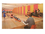 Interior, Bowling Alley, Retro Prints