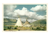 Apache Tepees in New Mexico Prints