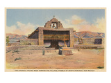 Church, Santo Domingo Pueblo, New Mexico Prints