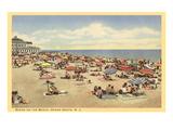 Beach Scene, Ocean Grove, New Jersey Kunstdrucke