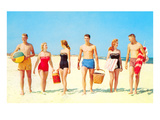 Beach Picnic, Retro Kunstdrucke