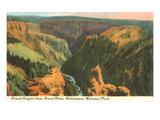 Grand Canyon, Yellowstone Park, Montana Prints