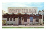 Beauty College with Zigzag Roof Posters