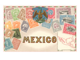 Stamps of Mexico Prints