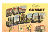 Greetings from Summit, New Jersey Posters