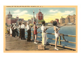 Fishing Pier, Atlantic City, New Jersey Prints