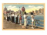 Fishing Pier, Atlantic City, New Jersey Prints