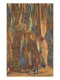 Stalactites, Carlsbad Caverns, New Mexico Kunstdrucke