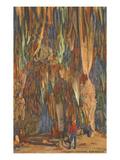 Stalactites, Carlsbad Caverns, New Mexico Prints