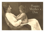 Happy Mothers Day, Lady with Child Poster