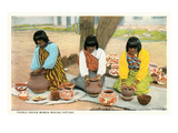 Pueblo Indian Women Making Pottery Posters