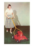 Fifties Girl with Lawnmower Prints