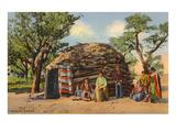 Navajos with Hogan Prints