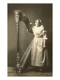 Bored Girl Standing by Harp Prints