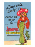 Buxom Cartoon Senorita, Juarez, Mexico Posters