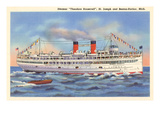 Steamer Theodore Roosevelt, Benton Harbor, Michigan Poster