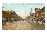 Saginaw Street, Pontiac, Michigan Poster