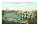 Milling District, Bridges, Minneapolis, Minnesota Posters