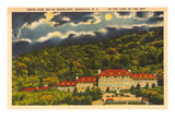 Moon over Grove Park Inn, Asheville, North Carolina Poster