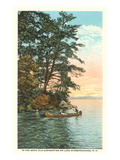 Canoing on Lake Winnipesaukee, New Hampshire Posters