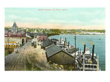 Boat Docks, St. Paul, Minnesota Poster
