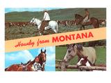 Howdy from Montana, Horses Prints