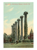 The Columns, University of Missouri Poster
