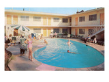 Apartment Complex Pool, Retro Prints