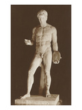 Standing Discus Thrower Statue Prints