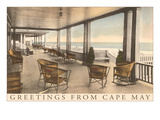 Greetings from Cape May, New Jersey, Veranda Print