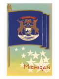 Michigan State Flag Posters