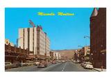 Downtown Missoula, Montana Poster