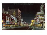 Night, High Street, Jefferson City, Missouri Prints
