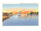Harbor Entrance, Benton Harbor, Michigan Poster