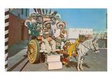 Zebra Donkey Cart, Tijuana, Mexico Láminas